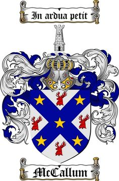 MCCALLUM FAMILY CREST - COAT OF ARMS gifts at www.4crests.com