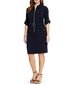 MICHAEL Michael Kors Plus Belted Shirtdress