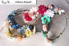 Rosa M. fabrique à petit prix une collection d'accessoires en fleurs dans un univers bohème chic. Ici, les couronnes !