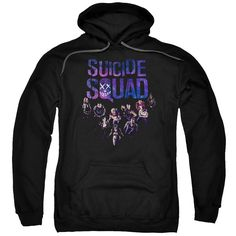 PULL-OVER HOODIE - SUICIDE SQUAD - SUICIDE GROUP SMILE - YOUTH or ADULT