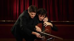 2CELLOS on 1 cello! Every Teardrop Is a Waterfall - Coldplay [LIVE VIDEO]... not only fun, but goes a long way to showing just how talented they are!
