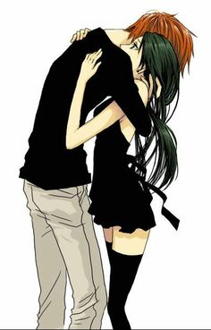 Haha, my boyfriend has to completely bend over like that to hug me..:)