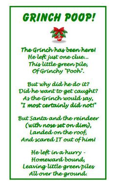 """crankycrafter: """" DIY Last Minute Christmas Poop Poems and Candy for Stocking Stuffers. Grownups may not like these but kids think they are funny. Printables and suggestions from..."""