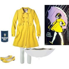 Morton's Salt Girl- Cute Halloween Costume Idea