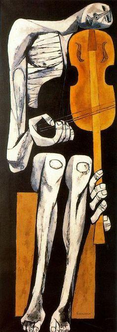 El violinista, 1967 Oswaldo Guayasamin - by style - Expressionism