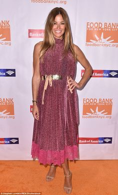 Kelly Bensimon wows in sparkly magenta dress and gold belt