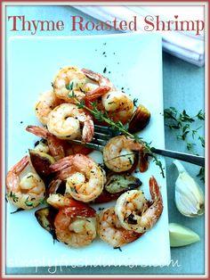 Roasted Shrimp With Garlic & Thyme
