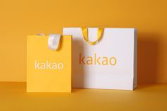 Kakao Corporate Identity on Behance Perfume Packaging, Luxury Packaging, Packaging Design, Branding Design, Corporate Identity Design, 2 Logo, Logo Word, Shoping Bag, Shopping Bag Design