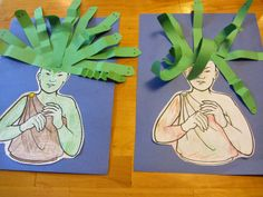 Greek Myths - Resources- I love this Medusa head craft