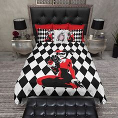 Quinn room on pinterest elephant nursery elephants and for Harley quinn bedroom ideas