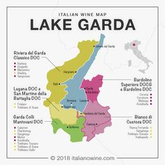 Italian wine map: the great wines around Lake Garda in Veneto and Lombardy. Get the latest wine news and trends all the way from USA, Australia, and New Zealand! Get to know your favorite types of wine with us!