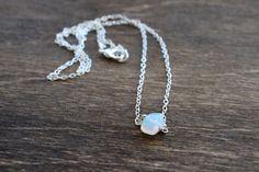 Dainty Opalite Gemstone Necklace $20