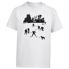 Youth Hockey Shirt. Did you grow up playing ice hockey on the lake or pond? How about ice fishing? Bring back some pond hockey memories with this design. This hockey shirt would make a great hockey gift.