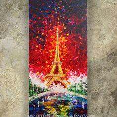palette knife Tour Eiffel PARIS FRANCE painting by KsaveraART