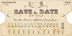Printable VINTAGE WEDDING INVITATIONS New Orleans by ABandIG