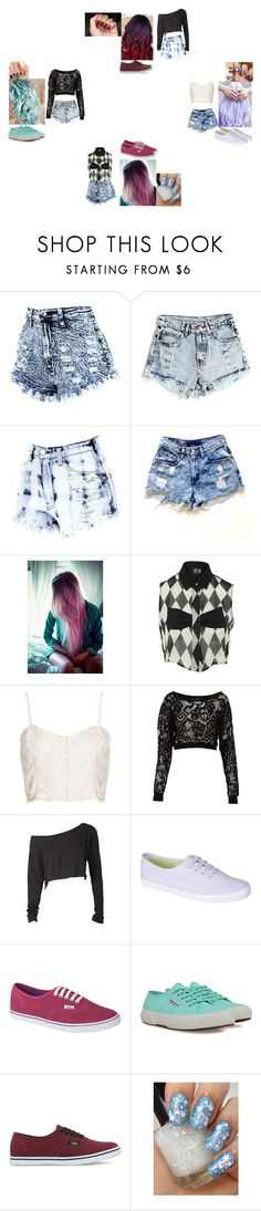 """""""We have the style... you don't have the style...9"""" by glee2shake ❤ liked on Polyvore featuring Levi's, Poppy Lux, Topshop, Miss Selfridge, Keds, Vans, Superga, INDIE HAIR and eylure"""