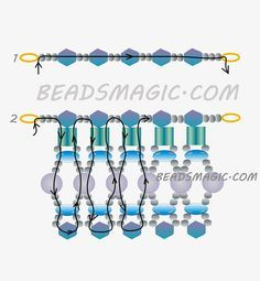 Free Pattern For Necklace Winter Soul | Beads Magic  2/2  ROC. 11, TUPIS 4/5 MM., SUPERDUOS Y PERLAS DE 4 MM.