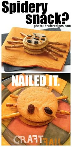 Spider snack - nailed it.