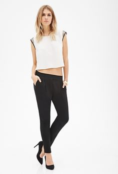 Pleated Crepe Pants from FOREVER 21 on shop.CatalogSpree.com, your personal digital mall.