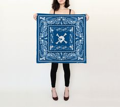 "Square+Scarf+(26""+x+26"")+""BC+Skull""+by+BCcreativity"