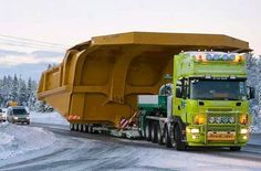 SCANIA brings the mining dump box home......