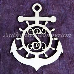 aMonogramArtUnlimited Anchor Wheel Ampersand Wooden Monogram Wall Decor