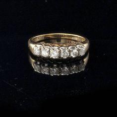 Antique Edwardian Mine Cut .42ct Diamonds 14k Gold by EtsyClassic