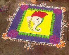 Easy Rangoli Designs Diwali, Simple Rangoli, Art, Art Background, Kunst, Performing Arts, Art Education Resources, Artworks
