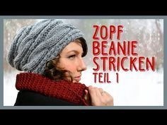 Zopfbeanie stricken *TEIL 1* - YouTube