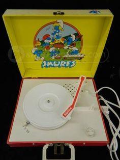 1982 Smurfs Record Player
