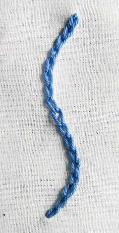 This is the basic and simplest of the chain stitch family. It gives a chain like appearance or, like petals lined up one after the other.