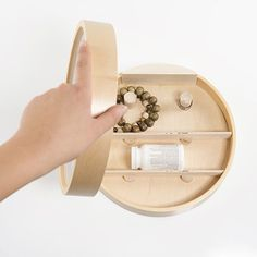 """20 Incredible Small-Space Inventions You Haven't Seen Yet #refinery29  http://www.refinery29.com/bed-bath-beyond-kikkerland-small-space-designs#slide-2  """"The clock cabinet [allows for the] discreet storage of medications in a central location."""" It's also a great hiding spot for jewelry...."""