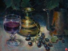 "Fruit of the Vine by Larry Clingman Oil ~ 9"" x 12"""