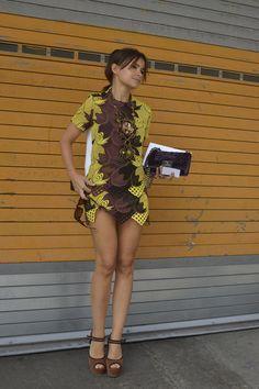 Fotos street style Miroslava Duma semanas de la moda