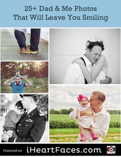 25+ Dad & Me Photos That Will Leave You Smiling! Fathers Day photography ideas. iHeartFaces.com