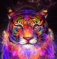 Psychedelic Tiger by kaiser-mony on deviantART. For more great digital art, visit us at http://digitalart.io