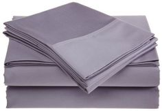 sheetsnthings Twin Extra Long XL size solid Lilac 100% Brushed Microfiber Super Soft Luxury Bed Sheet Set - Wrinkle Resistant
