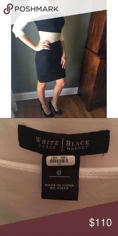 White House Black Market Sheath Colorblock Dress WHBM Colorblock Size 0 Sheath Dress; Excellent Condition! Like new! No worn spots or tears. Only worn twice. White House Black Market Dresses