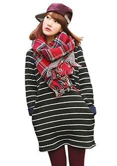 Thick Double-side Plaid Scarf with Tassel Ends Pashmina W…
