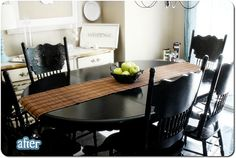 I have this table - I just might try the black spray paint idea - wow - why couldn't I think of that one.