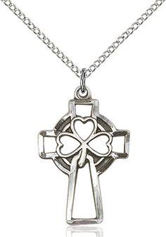 Shamrock Cross Pendant (Sterling Silver) by Bliss | Catholic Shopping .com