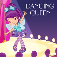Dancing Queen with Plum Pudding Strawberry Shortcake Coloring Pages, Strawberry Shortcake Characters, Raspberry Torte, Dance Books, Girly Cakes, Cottage Crafts, Holly Hobbie, Childhood Toys, Blue Berry Muffins