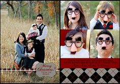 Rejoice and be glad!! Each and every day! Traditional Christmas Card Christmas Card | Traditional | Children's Photography | Toddler Photography | Family Picture | Props  | Glasses