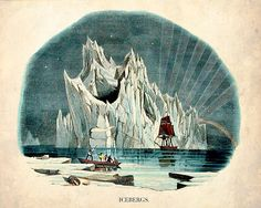 """The Iceberg"" - Victorian Nautical Nature Print. $20"