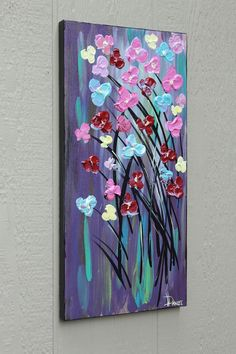 Acrylic Canvas Painting Ideas | flower painting | Painted canvas ideas