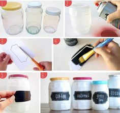 DiY mason jar stickers