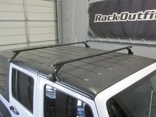 Jeep Wrangler Unlimited Thule Gutter Foot Square Bar Base Roof Rack - Rack Outfitters