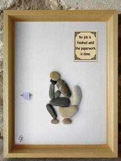 Art et Galets Tableau en galets Décoration salle de bain