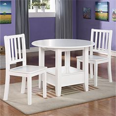 Big Lots 3 Piece Children's Table and Chairs with storage.  Wood.  79.00.  Great Deal!