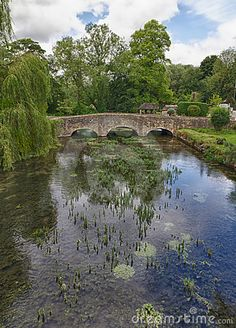 Bibury with River Coln, Cotswolds, Gloucestershire, UK